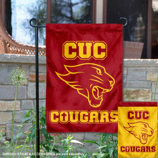 Concordia Cougars Garden Flag is 13x18 inches in size, is made of 2-layer polyester, screen printed university athletic logos and lettering, and is readable and viewable correctly on both sides. Available same day shipping, our Concordia Cougars Garden Flag is officially licensed and approved by the university and the NCAA.