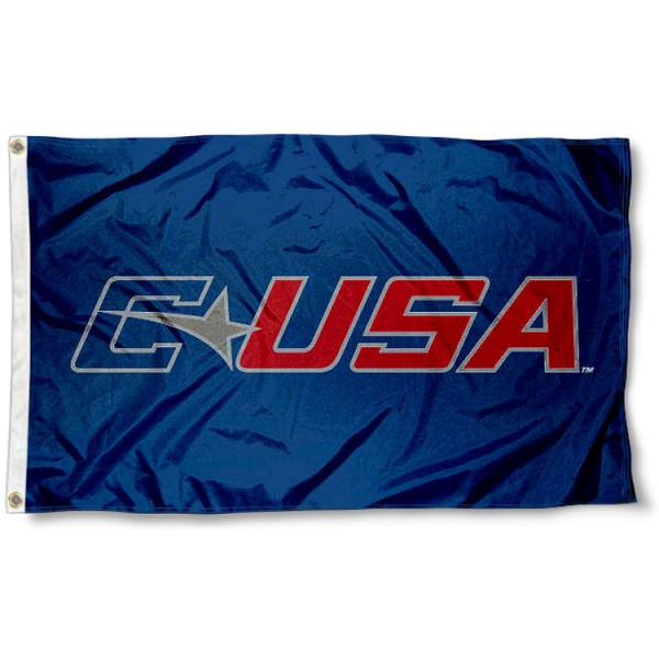 Conference USA Flag measures 3'x5', is made of 100% poly, has quadruple stitched sewing, two metal grommets, and has double sided Conference USA logos. Our Conference USA Flag is officially licensed by the selected Conference and the NCAA.