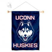 Connecticut Huskies Banner with Suction Cup