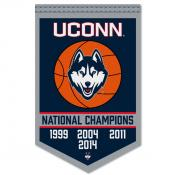 Connecticut Huskies Basketball National Champions Banner
