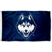 Connecticut Huskies Blue Flag