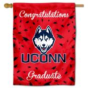 Connecticut Huskies Congratulations Graduate Flag