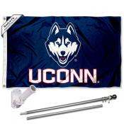 Connecticut Huskies Flag Pole and Bracket Kit