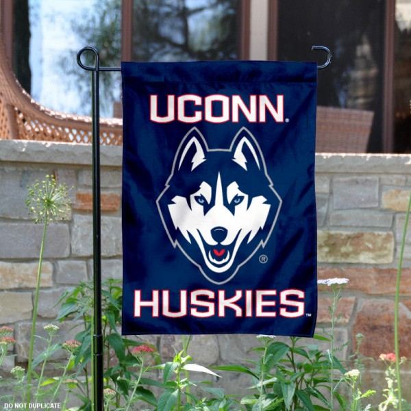 Connecticut Huskies Garden Flag is 13x18 inches in size, is made of 2-layer polyester, screen printed Connecticut Huskies athletic logos and lettering. Available with Same Day Express Shipping, Our Connecticut Huskies Garden Flag is officially licensed and approved by Connecticut Huskies and the NCAA.