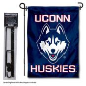 Connecticut Huskies Garden Flag and Stand