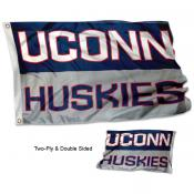 Connecticut UCONN Double Sided 3x5 Flag