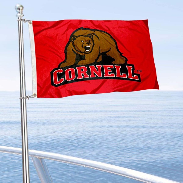 Cornell Big Red Boat and Mini Flag is 12x18 inches, polyester, offers quadruple stitched flyends for durability, has two metal grommets, and is double sided. Our mini flags for Cornell Big Red are licensed by the university and NCAA and can be used as a boat flag, motorcycle flag, golf cart flag, or ATV flag.