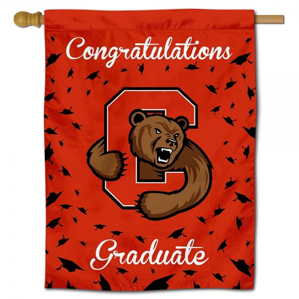 Cornell Big Red Congratulations Graduate Flag measures 30x40 inches, is made of poly, has a top hanging sleeve, and offers dye sublimated Cornell Big Red logos. This Decorative Cornell Big Red Congratulations Graduate House Flag is officially licensed by the NCAA.