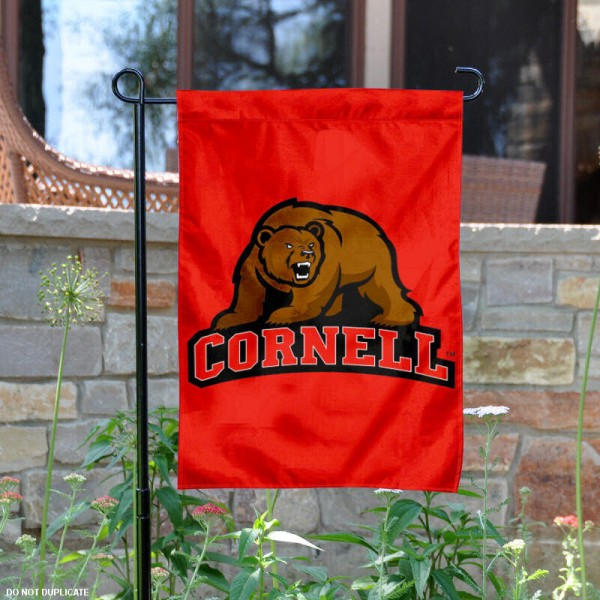 Cornell Big Red Garden Flag is 13x18 inches in size, is made of 2-layer polyester, screen printed Cornell Big Red athletic logos and lettering. Available with Same Day Express Shipping, Our Cornell Big Red Garden Flag is officially licensed and approved by Cornell Big Red and the NCAA.