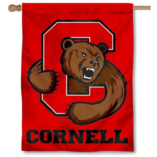Cornell Big Red House Flag is a vertical house flag which measures 30x40 inches, is made of 2 ply 100% polyester, offers dye sublimated NCAA team insignias, and has a top pole sleeve to hang vertically. Our Cornell Big Red House Flag is officially licensed by the selected university and the NCAA.