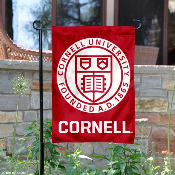 Cornell Big Red Insignia Garden Flag is 13x18 inches in size, is made of 2-layer polyester, screen printed logos and lettering. Available with Same Day Express Shipping, Our Cornell Big Red Insignia Garden Flag is officially licensed and approved by the College and the NCAA.