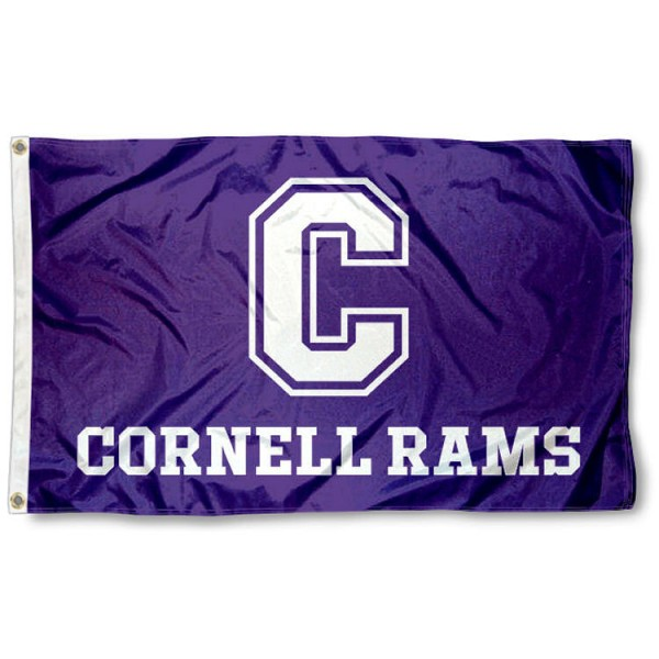Cornell College Rams Flag is made of 100% nylon, offers quad stitched flyends, measures 3x5 feet, has two metal grommets, and is viewable from both side with the opposite side being a reverse image. Our Cornell College Rams Flag is officially licensed by the selected college and NCAA