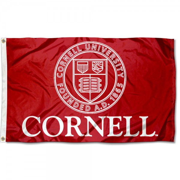 This Cornell Flag measures 3'x5', is made of 100% nylon, has quad-stitched sewn flyends, and has two-sided Cornell printed logos. Our Cornell Flag is officially licensed and all flags for Cornell are approved by the NCAA and Same Day UPS Express Shipping is available.