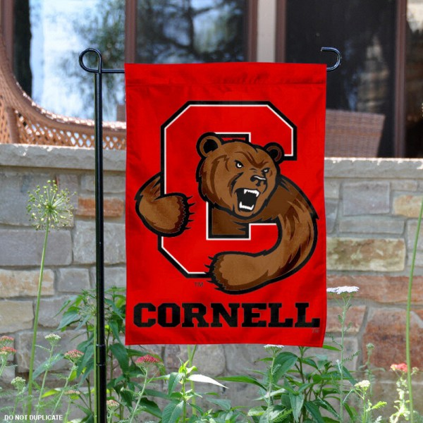 Cornell University Garden Banner is 13x18 inches in size, is made of 2-layer polyester, screen printed Cornell Big Red athletic logos and lettering. Available with Same Day Express Shipping, Our Cornell University Garden Banner is officially licensed and approved by Cornell Big Red and the NCAA.