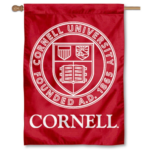 Cornell University House Flag is a vertical house flag which measures 28x40 inches, is made of 2 ply 100% nylon, offers dye sublimated NCAA team insignias, and has a top pole sleeve to hang vertically. Our Cornell University House Flag is officially licensed by the selected university and the NCAA