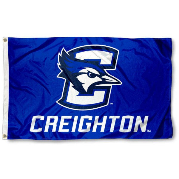 Creighton Bluejays Blue Flag is made of 100% nylon, offers quad stitched flyends, measures 3x5 feet, has two metal grommets, and is viewable from both side with the opposite side being a reverse image. Our Creighton Bluejays Blue Flag is officially licensed by the selected college and NCAA