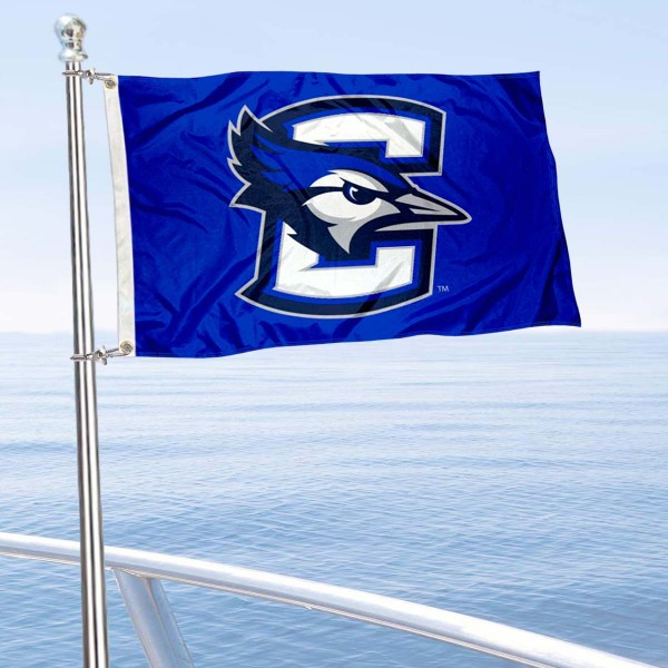 Creighton Bluejays Boat and Mini Flag is 12x18 inches, polyester, offers quadruple stitched flyends for durability, has two metal grommets, and is double sided. Our mini flags for Creighton Bluejays are licensed by the university and NCAA and can be used as a boat flag, motorcycle flag, golf cart flag, or ATV flag.