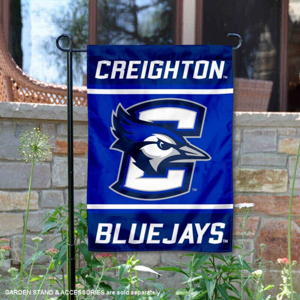 Creighton Bluejays Garden Flag is 13x18 inches in size, is made of 2-layer polyester, screen printed logos and lettering. Available with Same Day Express Shipping, Our Creighton Bluejays Garden Flag is officially licensed and approved by the NCAA.