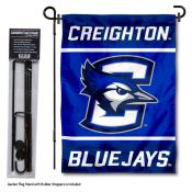 Creighton Jays Garden Flag and Pole Stand Holder