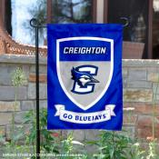 Creighton Jays Go Bluejays Shield Garden Flag