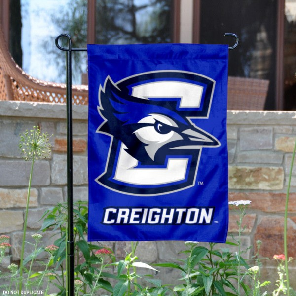 Creighton University Garden Flag is 13x18 inches in size, is made of 2-layer polyester, screen printed Creighton University athletic logos and lettering. Available with Same Day Express Shipping, Our Creighton University Garden Flag is officially licensed and approved by Creighton University and the NCAA.