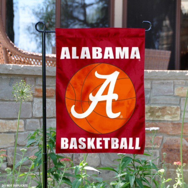 Crimson Tide Basketball Garden Banner is 13x18 inches in size, is made of 2-layer polyester, screen printed University of Alabama athletic logos and lettering. Available with Same Day Express Shipping, Our Crimson Tide Basketball Garden Banner is officially licensed and approved by University of Alabama and the NCAA.