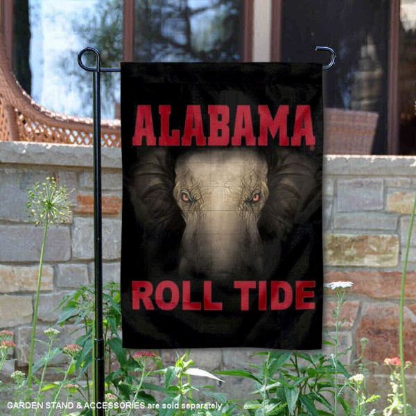 Crimson Tide Roll Tide Logo Garden Flag is 13x18 inches in size, is made of 2-layer polyester, screen printed Crimson Tide Roll Tide athletic logos and lettering. Available with Same Day Express Shipping, Our Crimson Tide Roll Tide Logo Garden Flag is officially licensed and approved by Crimson Tide Roll Tide and the NCAA.