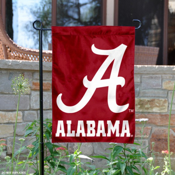 Crimson Tide Script A Garden Flag is 13x18 inches in size, is made of 2-layer polyester, screen printed Crimson Tide Script A athletic logos and lettering. Available with Same Day Express Shipping, Our Crimson Tide Script A Garden Flag is officially licensed and approved by Crimson Tide Script A and the NCAA.