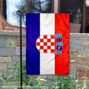 Croatia Double Sided Garden Flag