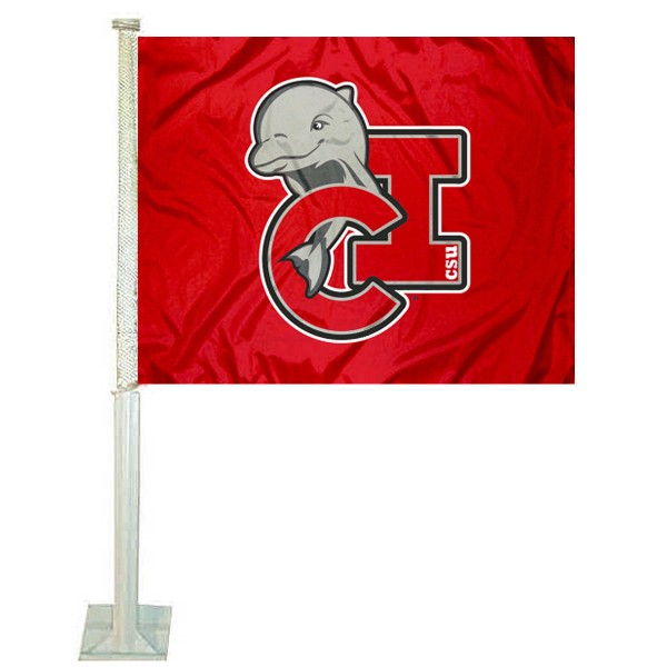 CSU Channel Islands Logo Car Flag measures 12x15 inches, is constructed of sturdy 2 ply polyester, and has screen printed school logos which are readable and viewable correctly on both sides. CSU Channel Islands Logo Car Flag is officially licensed by the NCAA and selected university.