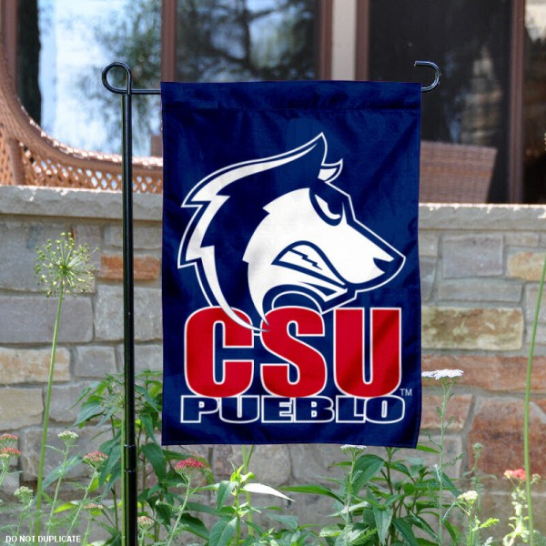 CSU Pueblo Garden Flag is 13x18 inches in size, is made of 2-layer polyester, screen printed CSU Pueblo athletic logos and lettering. Available with Same Day Express Shipping, Our CSU Pueblo Garden Flag is officially licensed and approved by CSU Pueblo and the NCAA.