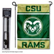 CSU Rams Garden Flag and Pole Stand Holder