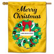 CSULB 49ers Happy Holidays Banner Flag