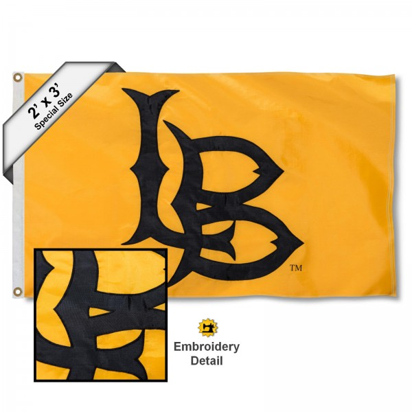 CSULB 49ers Small 2'x3' Flag measures 2x3 feet, is made of 100% nylon, offers quadruple stitched flyends, has two brass grommets, and offers embroidered CSULB 49ers logos, letters, and insignias. Our 2x3 foot flag is Officially Licensed by the selected university.