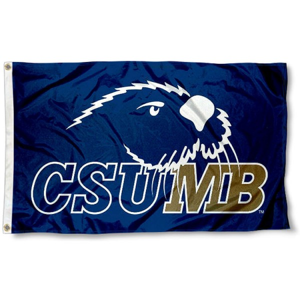 CSUMB Otters 3x5 Flag measures 3'x5', is made of 100% poly, has quadruple stitched sewing, two metal grommets, and has double sided Team University logos. Our Cal State Monterey Bay 3x5 Flag is officially licensed by the selected university and the NCAA.