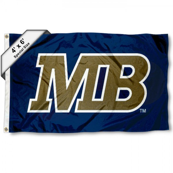 CSUMB Otters Large 4x6 Flag measures 4x6 feet, is made thick woven polyester, has quadruple stitched flyends, two metal grommets, and offers screen printed NCAA CSUMB Otters Large athletic logos and insignias. Our CSUMB Otters Large 4x6 Flag is officially licensed by CSUMB Otters and the NCAA.