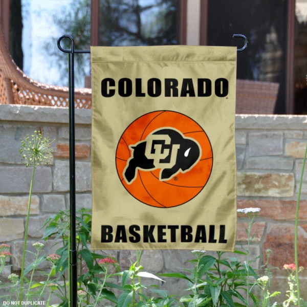 CU Buffaloes Basketball Garden Banner is 13x18 inches in size, is made of 2-layer polyester, screen printed University of Colorado athletic logos and lettering. Available with Same Day Express Shipping, Our CU Buffaloes Basketball Garden Banner is officially licensed and approved by University of Colorado and the NCAA.