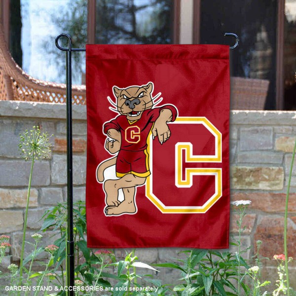 CU Cougars Charlie T Cougar Mascot Garden Flag is 13x18 inches in size, is made of 2-layer polyester, screen printed university athletic logos and lettering. Available with Same Day Express Shipping, our CU Cougars Charlie T Cougar Mascot Garden Flag is officially licensed and approved by the university and the NCAA.
