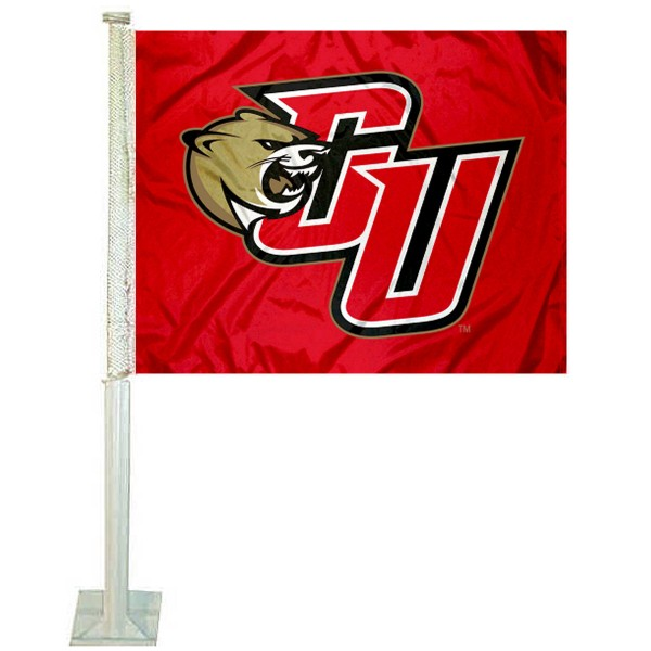 CU Cougars Logo Car Flag measures 12x15 inches, is constructed of sturdy 2 ply polyester, and has screen printed school logos which are readable and viewable correctly on both sides. CU Cougars Logo Car Flag is officially licensed by the NCAA and selected university.