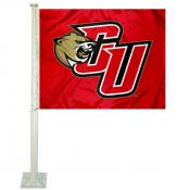 CU Cougars Logo Car Flag