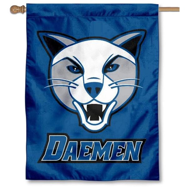 Daemen Wildcats Banner Flag is a vertical house flag which measures 30x40 inches, is made of 2 ply 100% polyester, offers screen printed NCAA team insignias, and has a top pole sleeve to hang vertically. Our Daemen Wildcats Banner Flag is officially licensed by the selected university and the NCAA.