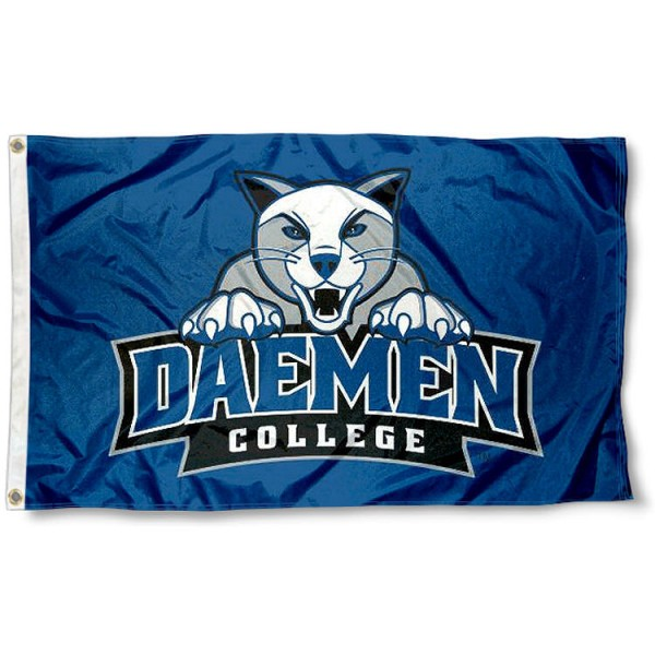 Daemen Wildcats Flag measures 3'x5', is made of 100% poly, has quadruple stitched sewing, two metal grommets, and has double sided Team University logos. Our Daemen Wildcats 3x5 Flag is officially licensed by the selected university and the NCAA.
