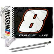 Dale Earnhardt Jr. Flag Pole and Bracket Mount Kit