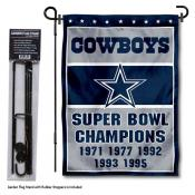 Dallas Cowboys 5 Time Champions Garden Banner and Flag Stand