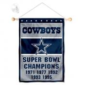 Dallas Cowboys 5 Time Champions Window and Wall Banner