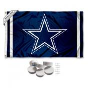 Dallas Cowboys Banner Flag with Tack Wall Pads