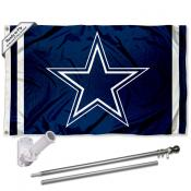Dallas Cowboys Blue Flag Pole and Bracket Kit