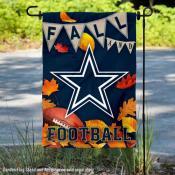 Dallas Cowboys Fall Football Leaves Decorative Double Sided Garden Flag
