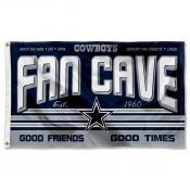 Dallas Cowboys Fan Cave Flag Large Banner