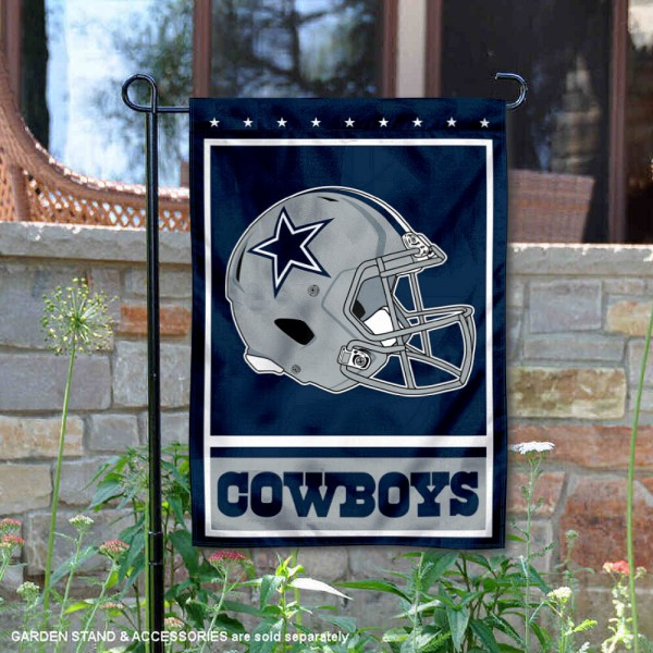 Dallas Cowboys Football Garden Banner Flag is 12.5x18 inches in size, is made of 2-ply polyester, and has two sided screen printed logos and lettering. Available with Express Next Day Ship, our Dallas Cowboys Football Garden Banner Flag is NFL Officially Licensed and is double sided.